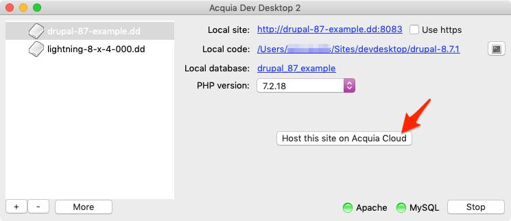 Host on Acquia Cloud