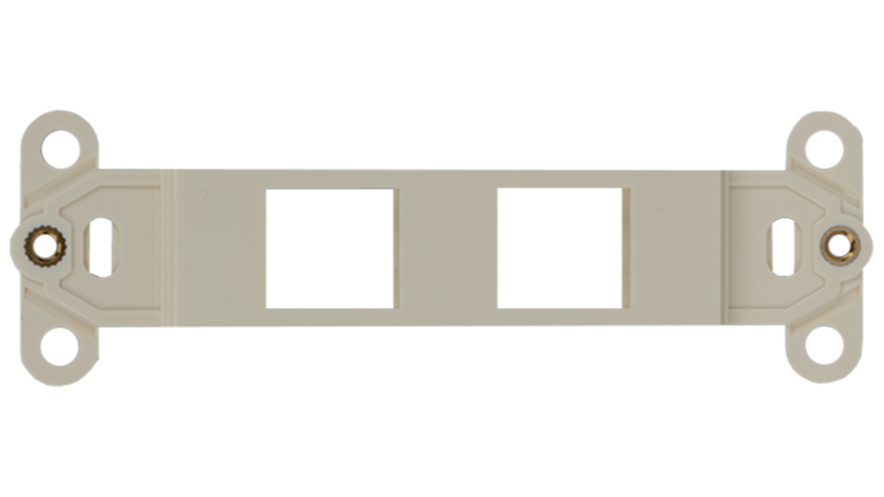 WJ-DEC-WH - Keystone Decorator Style 2-port faceplate insert
