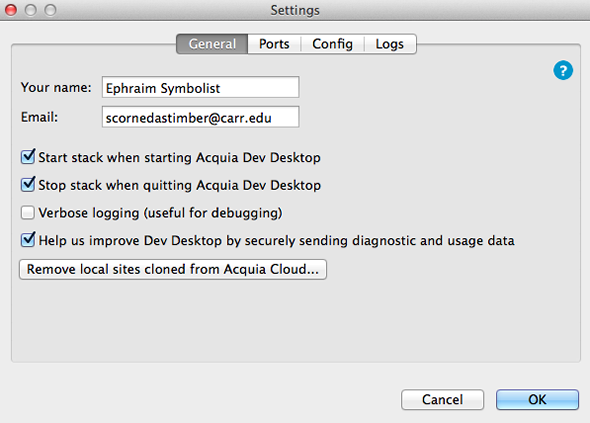Reporting diagnostic and usage information — Acquia Product