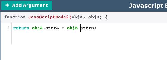 Complex JavaScript node