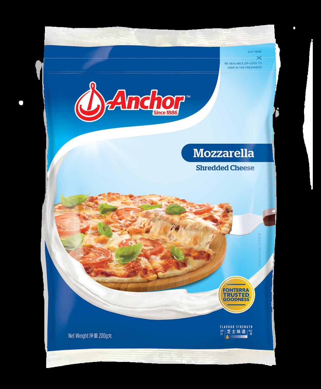 Anchor Shredded Mozzarella 200g