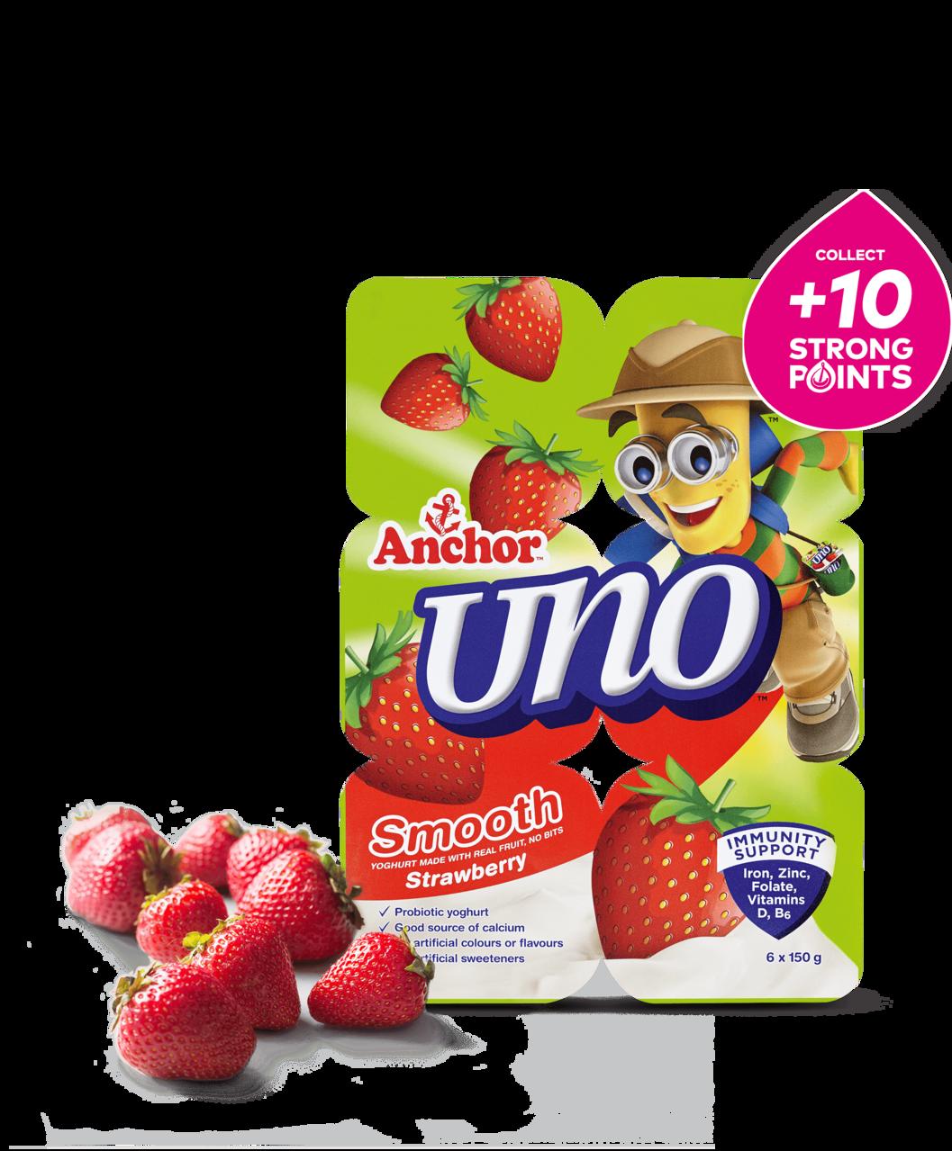 Anchor Uno Strawberry Yoghurt 6 x 150g pack
