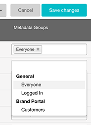 Metadata groups
