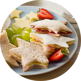 Kids Favourite Cheese Shape Sandwiches