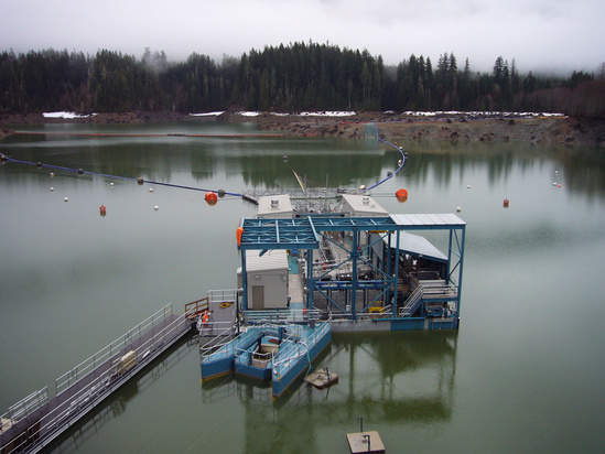 A Floating Surface Collector in Baker Lake, Washington.