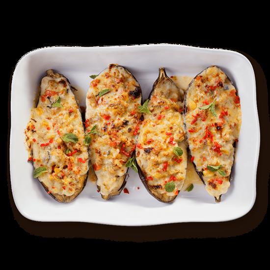 Stuffed Cheesy Eggplant