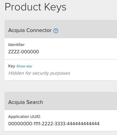 Product key example