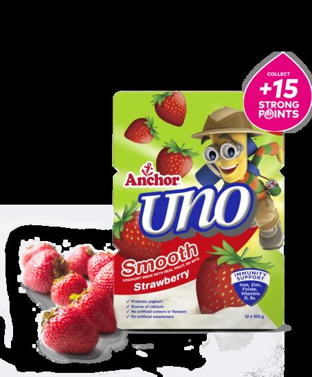 Anchor Uno Strawberry Yoghurt 12 x 100g pack
