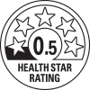0.5 health star rating