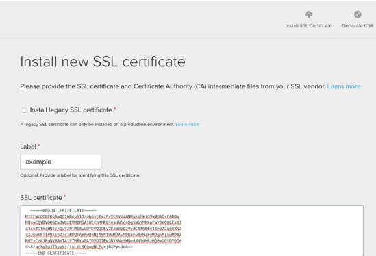 Managing SSL certificates — Acquia Help Center