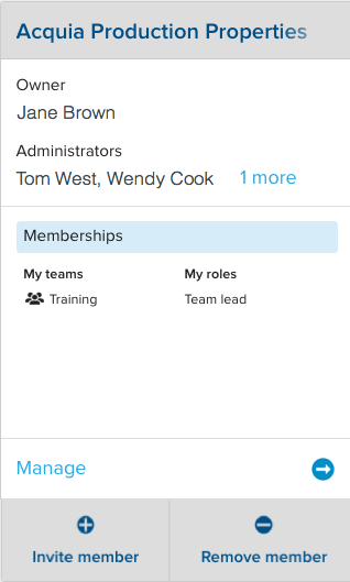 A single organization's card in the Cloud Platform user interface