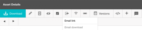 Sharing email toolbar