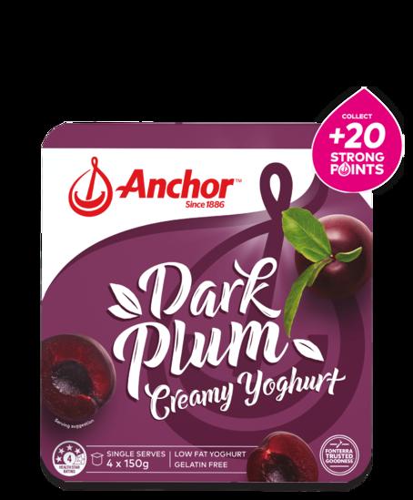 Anchor Plum Yoghurt 4 x 150g pack
