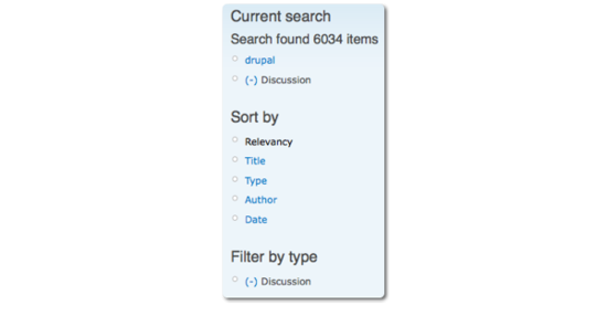How search facets work — Acquia Product Documentation
